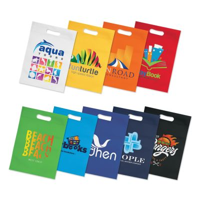 107006 Heat-Sealed Gift Advertising Tote Bags - (18cm x 26cm)