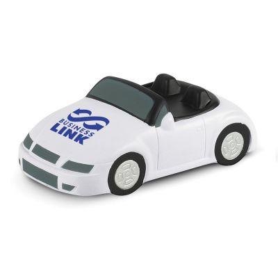 107051 White Sports Car Stress Balls