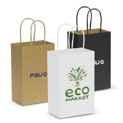 107582 Small Promo Paper Bags With Rope Handle (13.3cm x 21cm x 8.2cm)