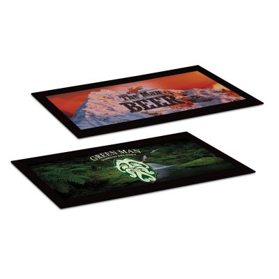 108046 Small Polyester Printed Counter Mats (250 x 440mm) With Rubber Base
