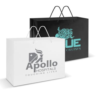 108514 Extra Large Laminated Promo Paper Bags With Rope Handle (40.5cm x 30.5cm x 14.9cm)