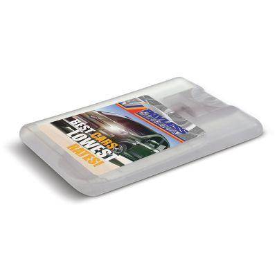 108813 20ml Pump Action Card Promotional Sanitiser