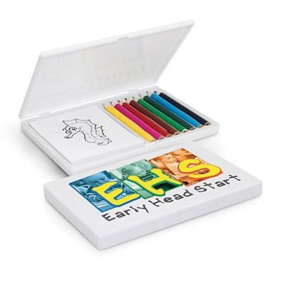 109028 Playtime Printed Coloured Pencil Packs With Colouring Pad