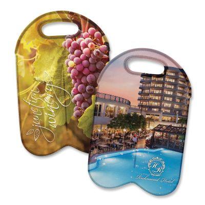 110499 Neoprene Two Bottle Printed Wine Carriers - Full Colour