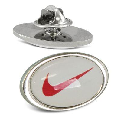 110913 (24 x 14mm) Altura Metal Oval Custom Lapel Pins