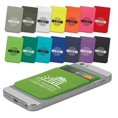 110946 Lycra Custom Phone Wallets - One Colour Print