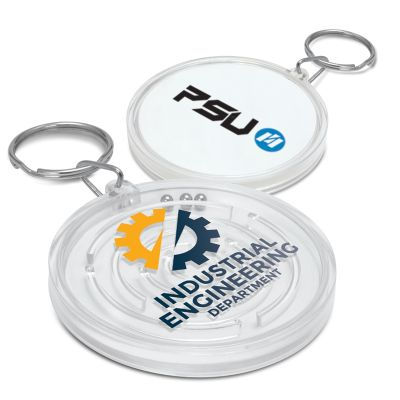 112380 Anti-Stress Puzzle Branded Plastic Key Tags