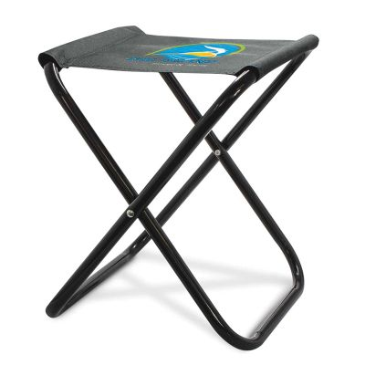 113243 Quebec Branded Folding Stool With Up To 80kg Capacity