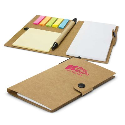 113248 Beta Branded Note Pads With Sticky Note & Flag Sets - 50 Pages