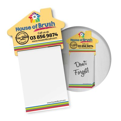 113367 A7 House Promotional Magnetic Note Pads - 25 Pages