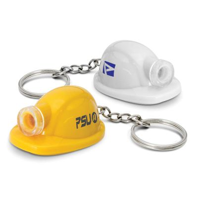 113590 Hard Hat Promotional Torch Key Rings
