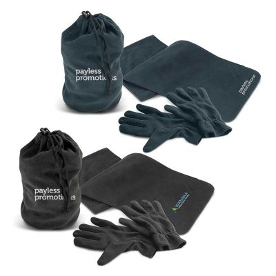 113845 Seattle Embroidered Casual Scarves And Gloves Set