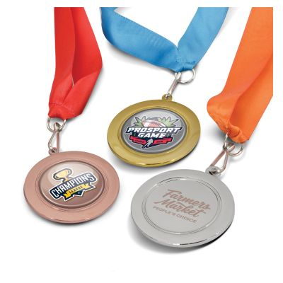115692 Branded Podium Medal - 65mm