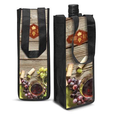115760 Festiva Wine Logo Tote Bags - (11cm x 30.5cm x 10cm)