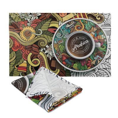 115914 Bistro Printed Cotton Tea Towel