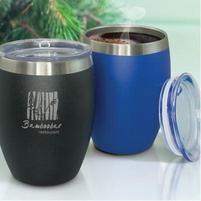 116136 300ml Verona Personalised Stainless Travel Mugs