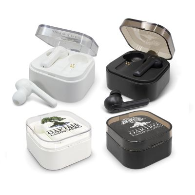 116449 Tempo Printed Bluetooth Earbuds