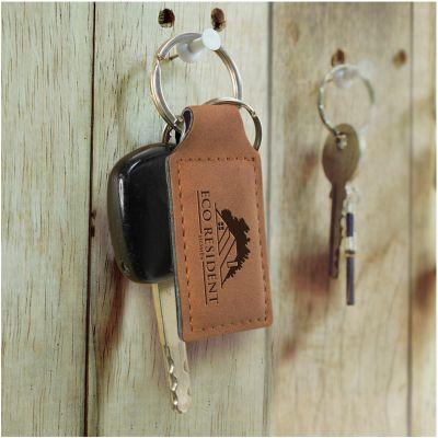 116580 Ashton Branded Leather Key Rings