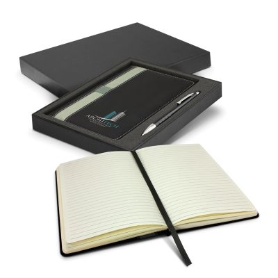 116695 Prescott Advertising Notepads With Pen - 160 Pages