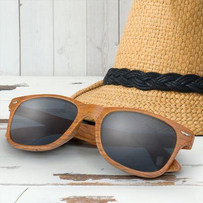 116745 Malibu Printed Woodgrain Pattern Sunglasses