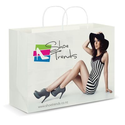 116942 Full Colour Extra Large Custom Paper Bags With Rope Handle (40.6cm x 30.5cm x 15.4cm)