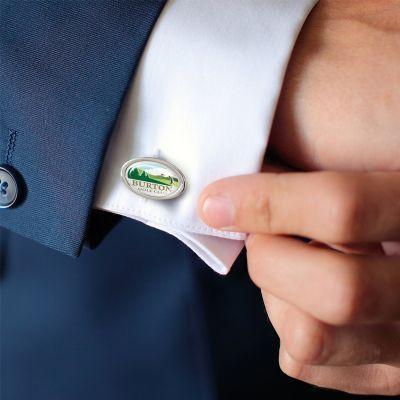 118757 Oval Corporate Cuff Links