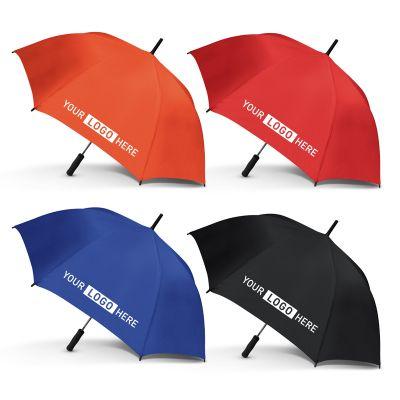 200871 Peros Wedge Logo Golf Umbrellas