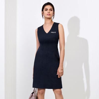 30121 Ladies Sleeveless V Neck Dresses