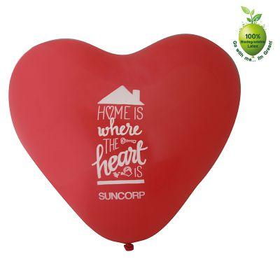 30HEART 30cm Heart Shaped Branded Balloons