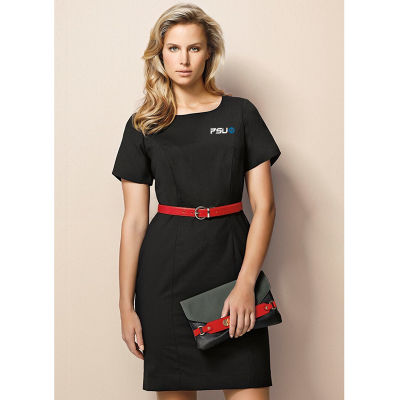 34012 Ladies Short Sleeve Shift Business Dresses