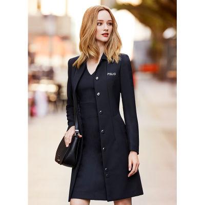 63830 Ladies Lined Overcoat Logo Overcoats