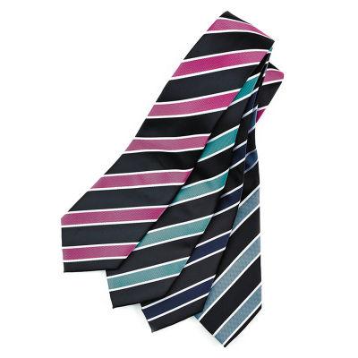 99103 Wide Contrast Stripe Printed Ties