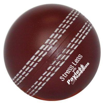 S17 Cricket Ball Burgundy Promotional Sports Stress Balls