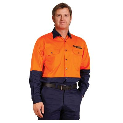 SW58 Cotton Long Sleeve Branded Workwear Shirts