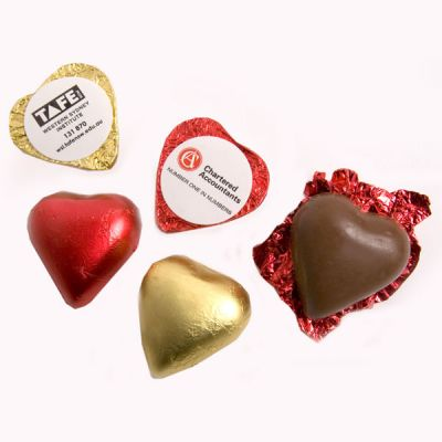 CC008A1 Heart Shaped Corporate Chocolates - 7g