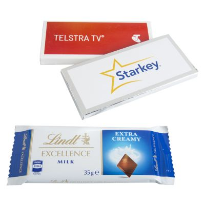 CC009B2 Lindt Corporate Chocolates Bar With Big Sticker - 35g