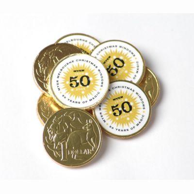 CC011A2 $1 Milk Logo Chocolate Coins
