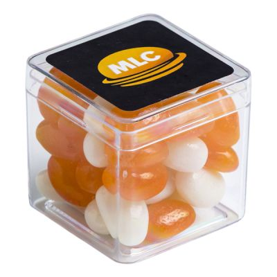 CC013AH Jelly Bean (Mixed Or Corporate Colours) Filled Hard Branded Cubes - 60g