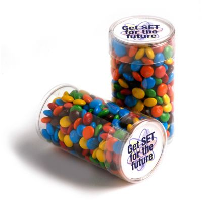 CC014D Mini M&M (Mixed Colours) Filled Corporate Tubes - 100g