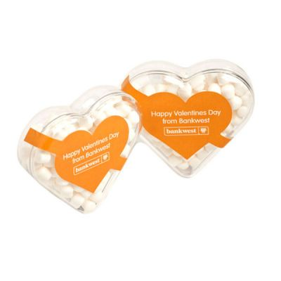 CC030C1 Mint Filled Branded Hearts - 50g
