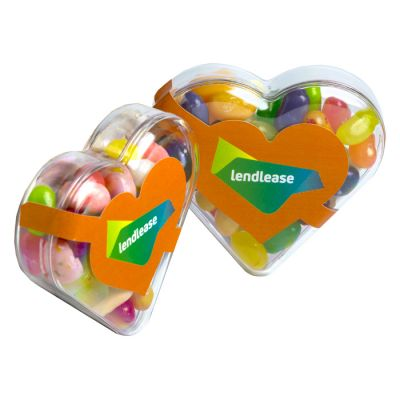CC030F Jelly Belly Beans Filled Branded Hearts - 50g