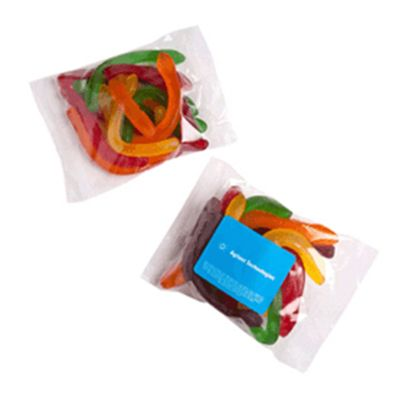 CC037B2 Snakes Filled Branded Lolly Bags - 100g