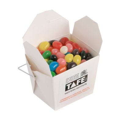 CC042A Jelly Bean (Mixed Or Corporate Colours) Filled White Corporate Noodle Boxes -100