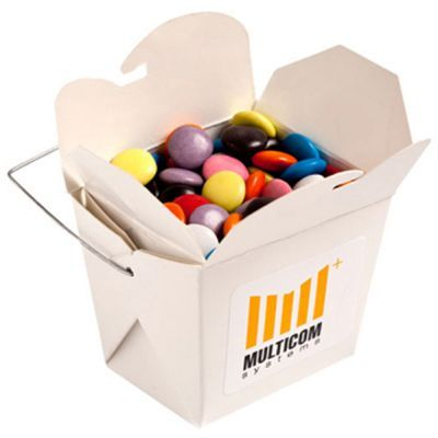 CC042C Smarties Look-Alike (Smartie Look Alike) Filled White Corporate Noodle Boxes - 100g