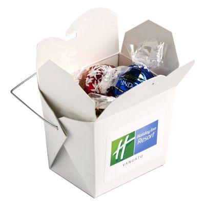 CC042I Lindt Lindor Balls Filled White Branded Noodle Boxes - x 5