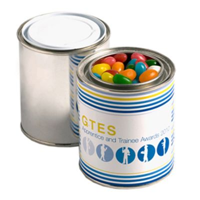 CC044A Jelly Bean (Mixed Or Corporate Colours) Filled Custom Paint Tins - 225g