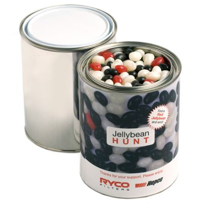 CC044E Jelly Bean (Mixed Or Corporate Colours) Filled Branded Paint Tins - 1kg