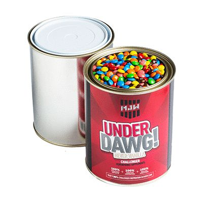 CC044I Mini M&M Filled Corporate Paint Tins - 1Kg