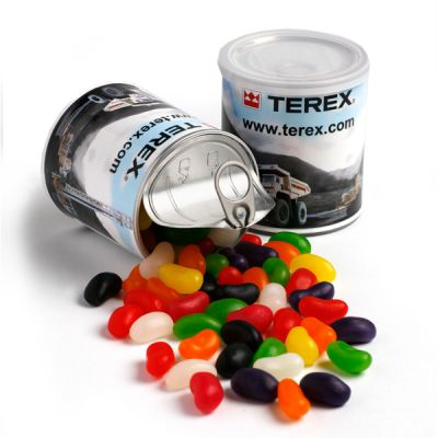 CC045A Jelly Bean (Mixed Or Corporate Colours) Filled Corporate Cans - 200g