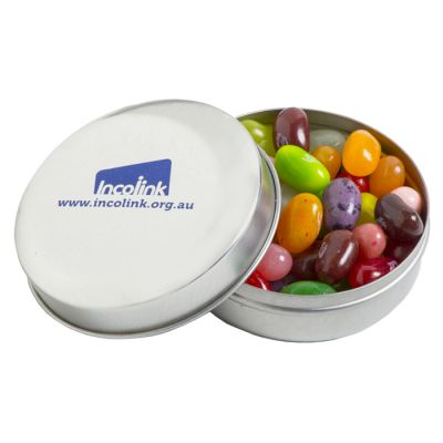CC046G2 Jelly Belly Bean (Mixed Colours) Filled Candle Tins With Sticker On Tin - 50g
